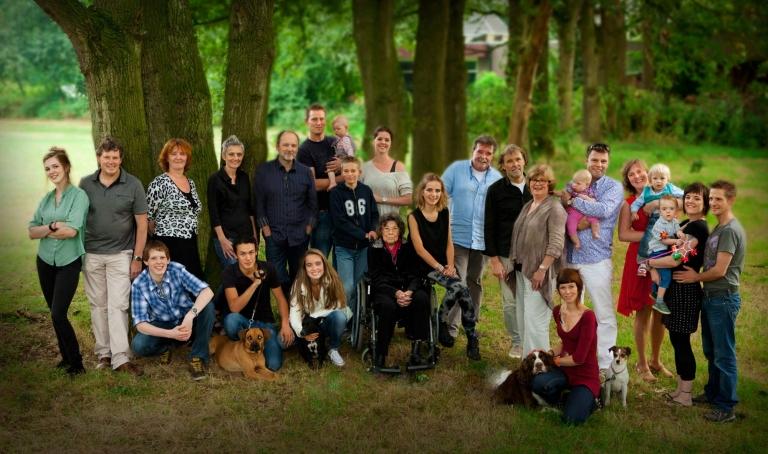 sprangersfoto familiefoto